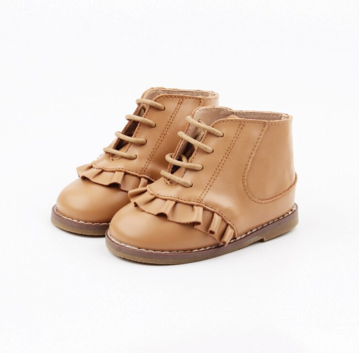 Alex boot tan for girls - Sadie Baby