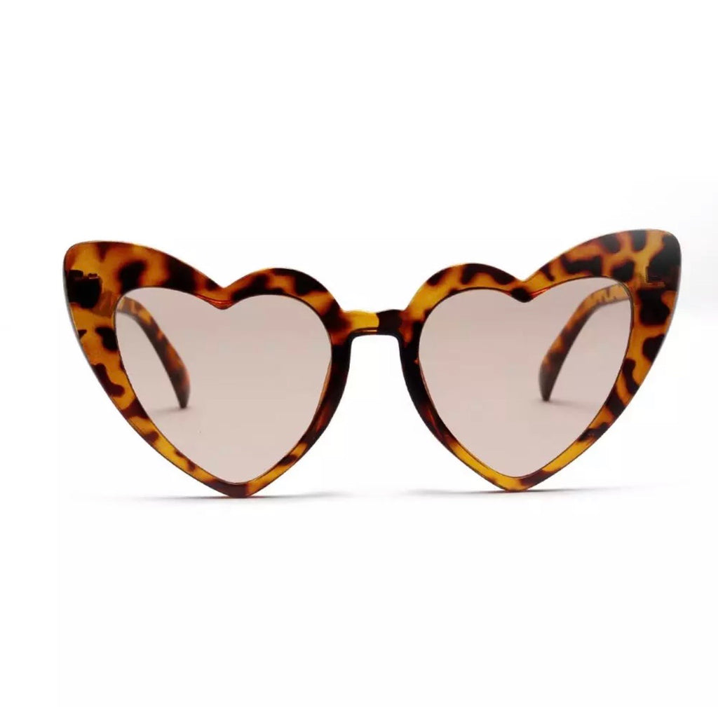 LEOPARD HEART SUNGLASSES
