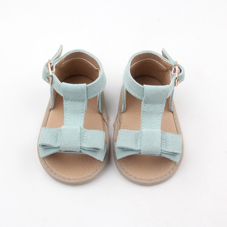 Maggie Sandal in sky blue (soft sole) - Sadie Baby