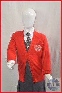 Red Girls Cardigan for Nishkam Primary