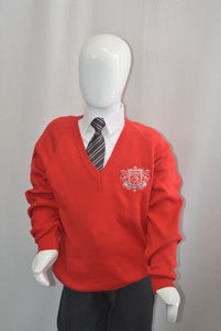 Red Boys Jumper for Nishkam Primary