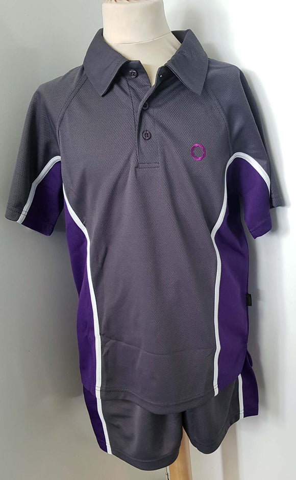 PE Polo Grey, For Eden Boys 2 School Birmingham