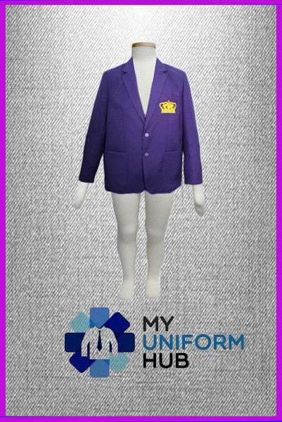 Purple School Blazer with Logo King Solomon High School