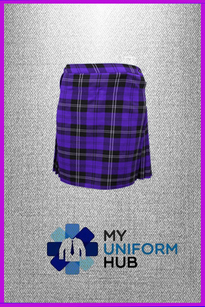 Purple Check Kilt for King Solomon High Girls