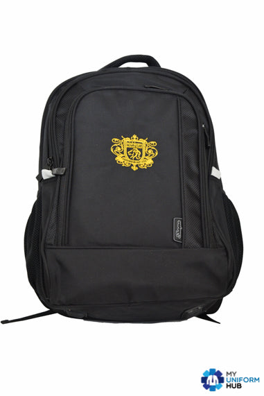 Black Bookbag Rucksack for Nishkam High