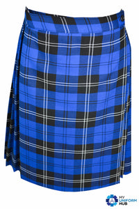 Blue Check Official Girls Wrap-around Kilt Skirt for St Marys Primary