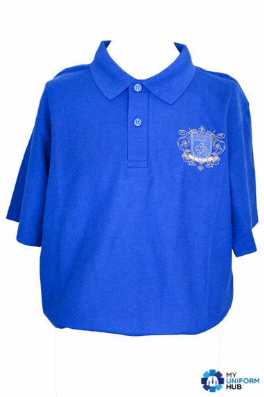 Blue Humility Polo for Nishkam High