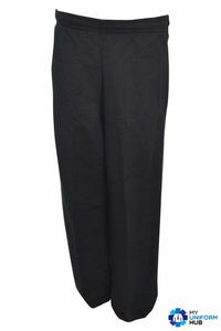 Black Sports Jogging Bottoms with Zip Up Ankle