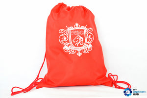 Red PE Bag with Logo for Nishkam Primary