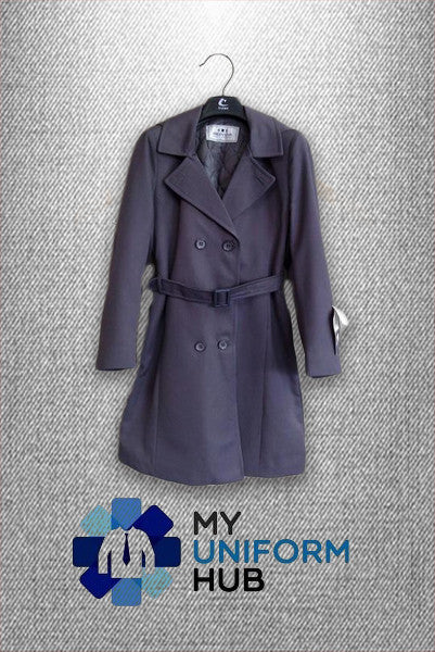 Primary School Overcoat Purple-Grey
