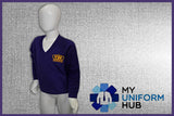 Purple Boys V-Neck Sweatshirt with Logo for King Solomon
