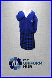 White With Blue Edging Polo with Logo for St Marys Primary