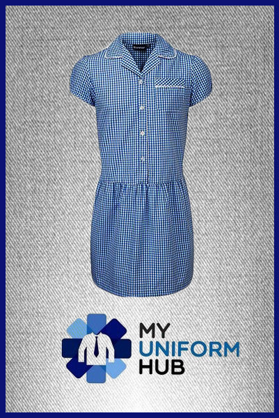 Royal Blue Gingham Check Summer Dress, Ideal for St Mary's School and others