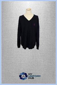 Navy Jumper with Logo, For Eden Boys School