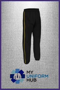 King Solomon High School Black Jogging Bottoms with Yellow Stripe