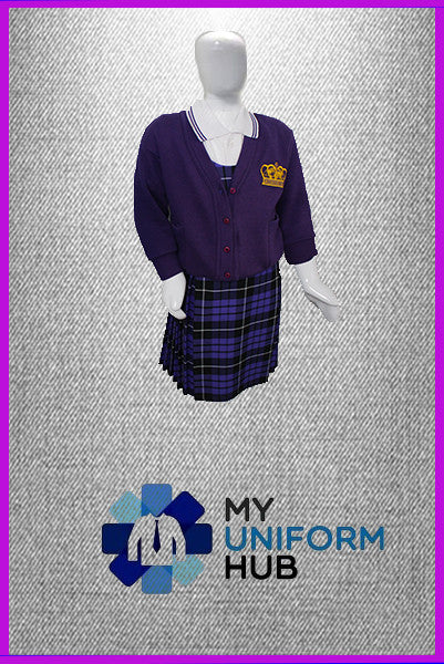 Purple Cardigan with Logo for King Solomon Primary Girls
