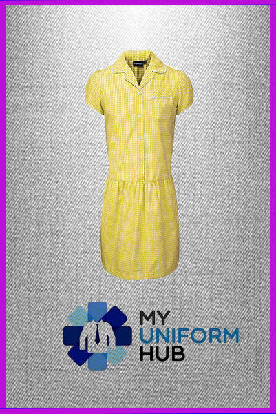 Yellow Gingham Check Summer Dress, Ideal for King Solomon's School and others