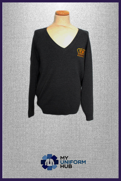 Grey Jumper with Logo for King Solomon High School