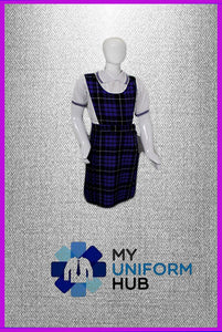 Purple Check Pinafore for King Solomon Primary Girls