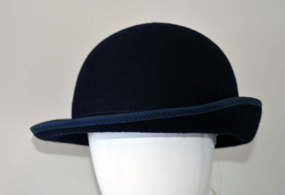 Navy Girls Hat With Navy Trim For Lambs Christian School