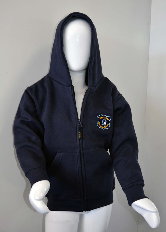 Navy Hoody with Logo for Lambs Christian School