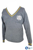 Grey Jumper with logo for Nishkam High School