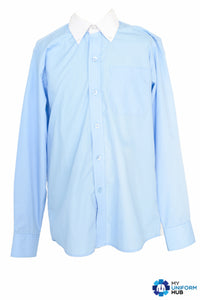1x Pale Blue Shirt with White Collar, For Eden Boys School Birmingham
