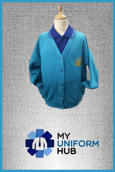Turquoise Cardigan for Girls for St Michaels CofE Primary Academy Handsworth