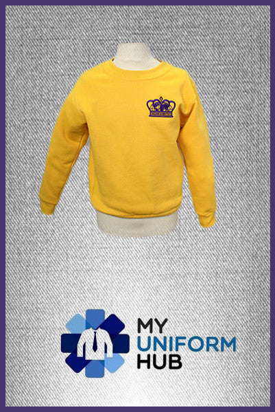Yellow PE Sweatshirt with Logo for King Solomon Primary
