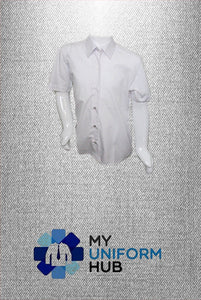 White Blouse Non-Iron Short Sleeve, Twin Pack