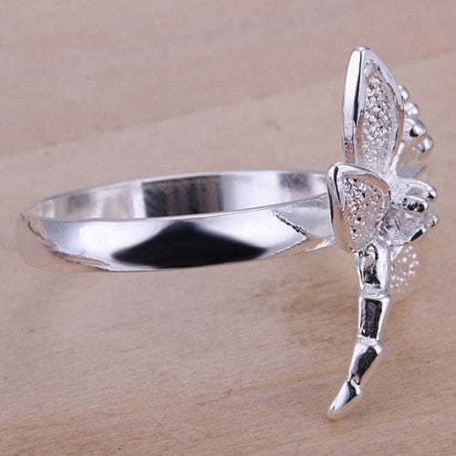 Fashion Zircon Dragonfly Silver Jewelry Ring