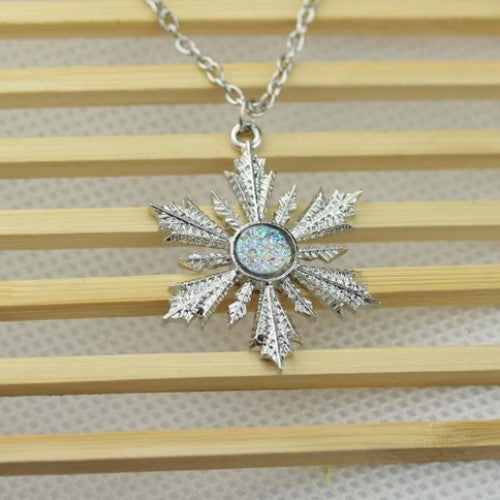 Once Upon A Time Show Snowflake Elsa Pendant Necklace - fashioniworld