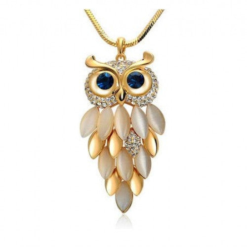 Trendy Owl Gold Chain Long Necklaces