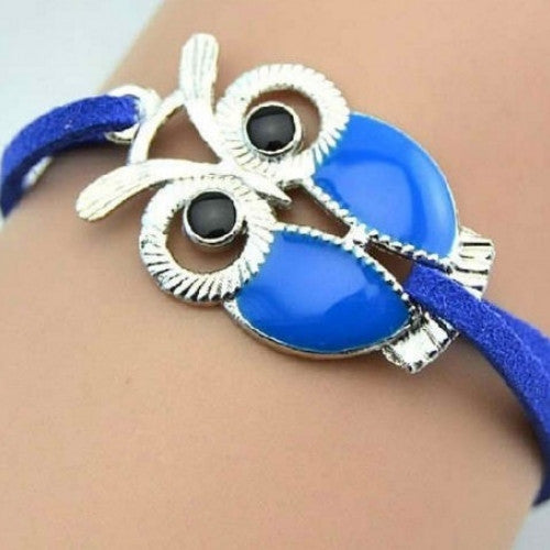 Unique Cute Owl Shaped fill Oil Charm Bracelets for Girls - fashioniworld