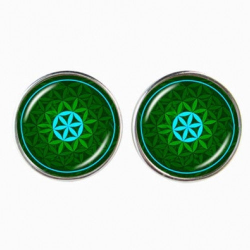 Mandala Earrings Om Symbol - fashioniworld