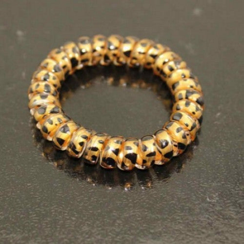 Printed Leopard Hair Rubber Bands - fashioniworld