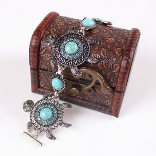 Sea Turtle Turquoise Fashion Bracelet