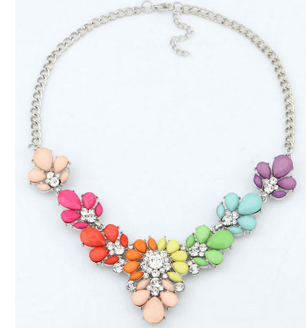 Crystal Statement Choker necklaces & pendants For Woman 3 Colors