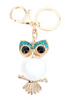 Cute Owl Pendant Keychain Crystal Charm Purse Handbag Car Key Ring - fashioniworld