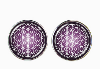 Mandala Earrings Om Symbol