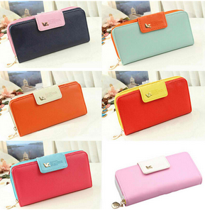 Classic Cute Women's Wallet Button Leather Faux Clutch Lady Purse Long Handbag