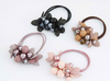 Handmade Crystal Beaded Flower Hair Rope For Women - fashioniworld