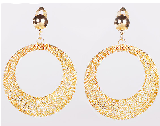 18k Gold Hollow Out Statement Earrings