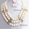 African Handmade Beads Winter Choker Necklace and Earrings Set - fashioniworld