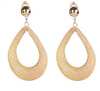 18k Gold Hollow Out Statement Earrings - fashioniworld