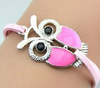 Unique Cute Owl Shaped fill Oil Charm Bracelets for Girls