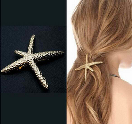 Exquisite Metal Hair Clips Super Starfish Hairpins