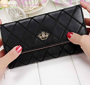 Crown PU Leather Wallet