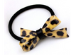 Woman Leopard Bow Tie Elastic Black Hair Rope - fashioniworld