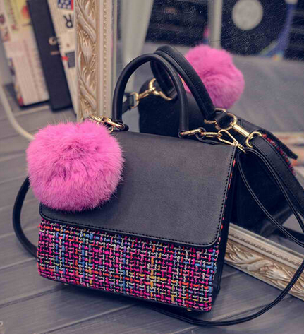 Winter Woolen Small Square Bag
